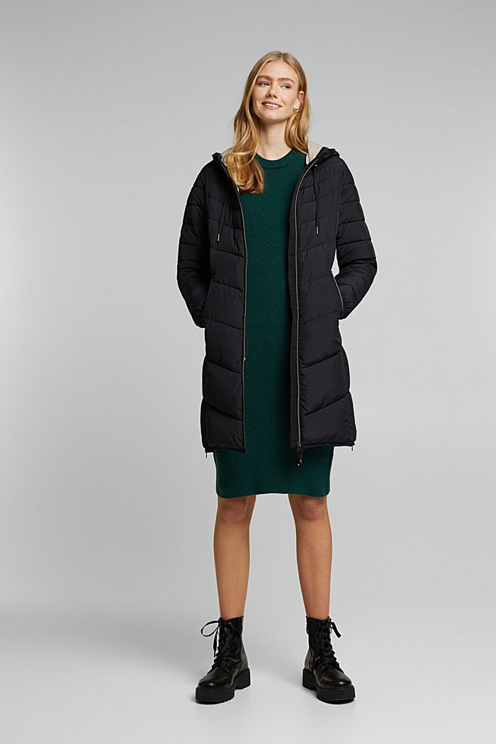 Recycled: Coat with 3M™ Thinsulate™ filling, BLACK, detail image number 1