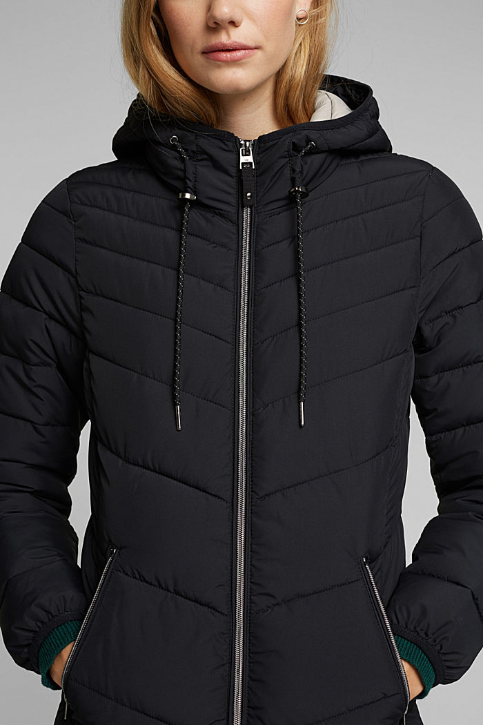Recycled: Coat with 3M™ Thinsulate™ filling, BLACK, detail image number 2