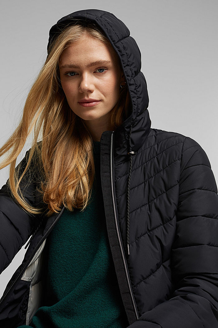 Recycled: Coat with 3M™ Thinsulate™ filling, BLACK, detail image number 7