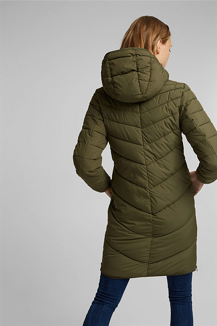 Recycled: Coat with 3M™ Thinsulate™ filling, KHAKI GREEN, detail image number 3