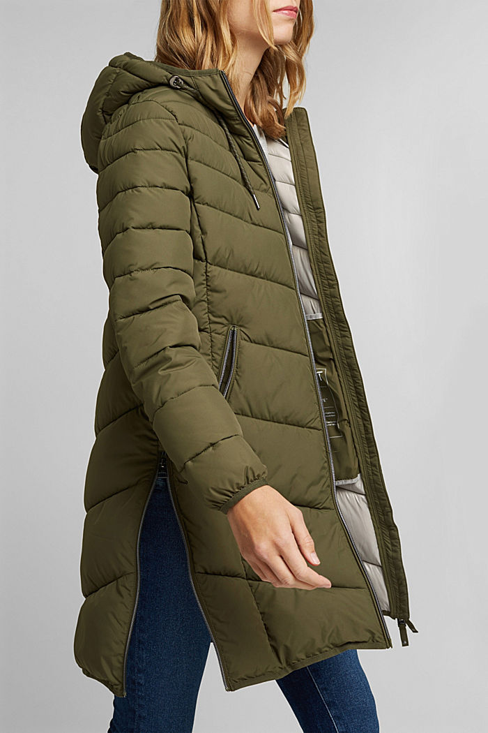 Recycled: Coat with 3M™ Thinsulate™ filling, KHAKI GREEN, detail image number 2