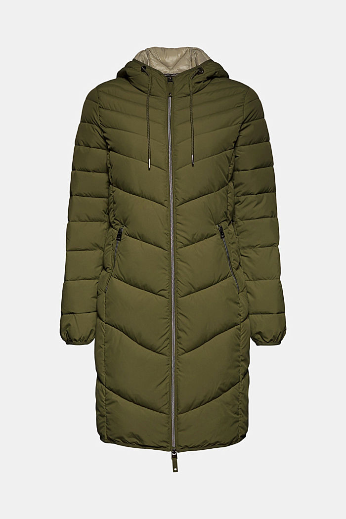 Recycled: Coat with 3M™ Thinsulate™ filling, KHAKI GREEN, detail image number 7