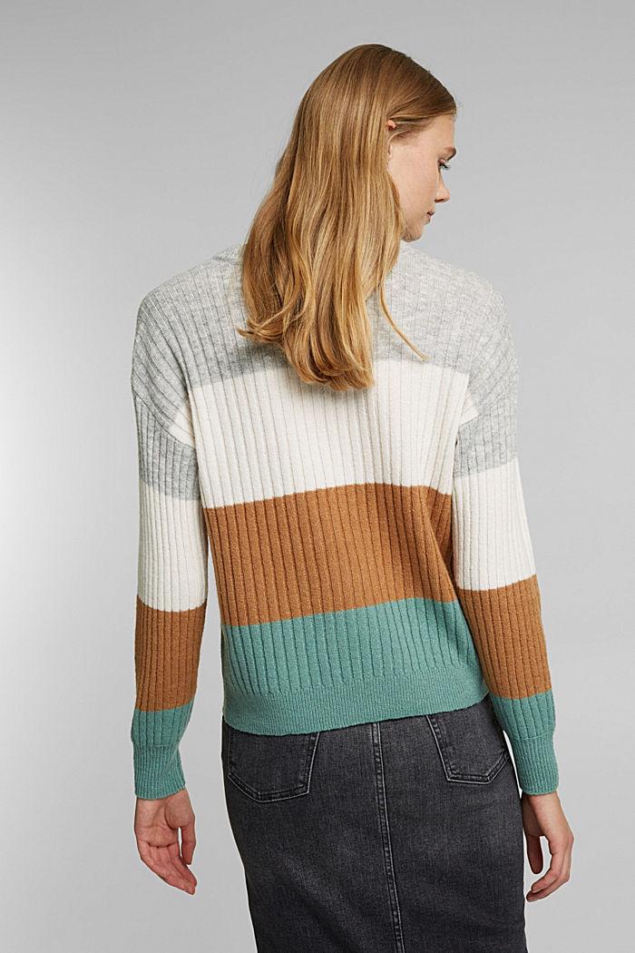 Svlnou: pulovr z žebrové pleteniny, GREY COLORWAY, detail image number 3