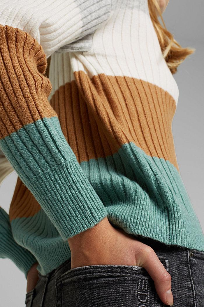 Svlnou: pulovr z žebrové pleteniny, GREY COLORWAY, detail image number 2