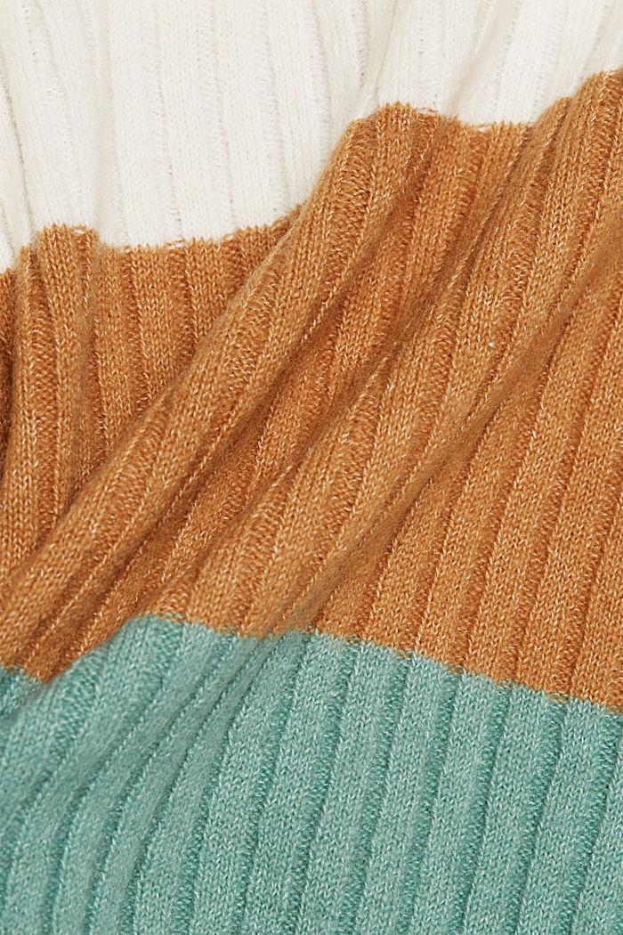 Svlnou: pulovr z žebrové pleteniny, GREY COLORWAY, detail image number 4