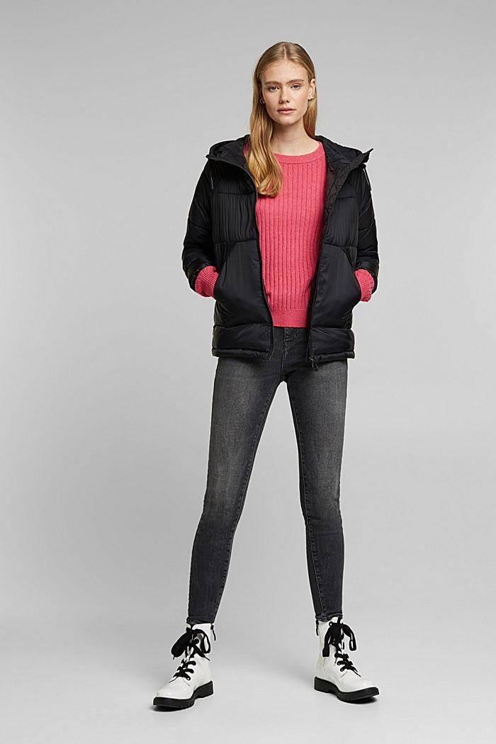 Wool blend: rib knit jumper, BLUSH, detail image number 1