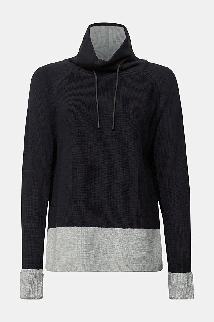 Jumper made of 100% organic cotton, BLACK, detail image number 6