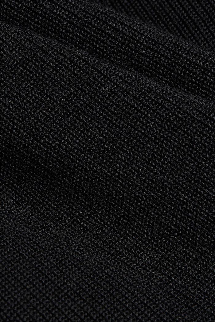 Kardigan ze 100% bio bavlny, BLACK, detail image number 4