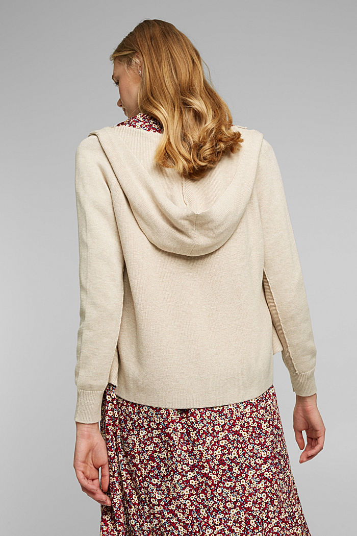 Cardigan made of 100% organic cotton, BEIGE, detail image number 3