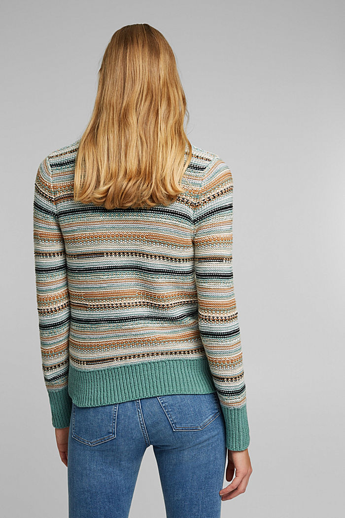 Textured jumper containing organic cotton, DUSTY GREEN, detail image number 3