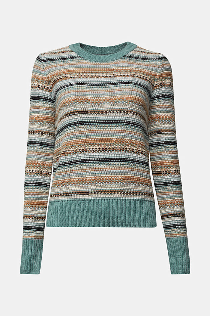 Textured jumper containing organic cotton, DUSTY GREEN, detail image number 5