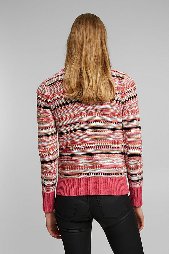 Struktur-Pullover mit Organic Cotton, BLUSH, detail image number 3