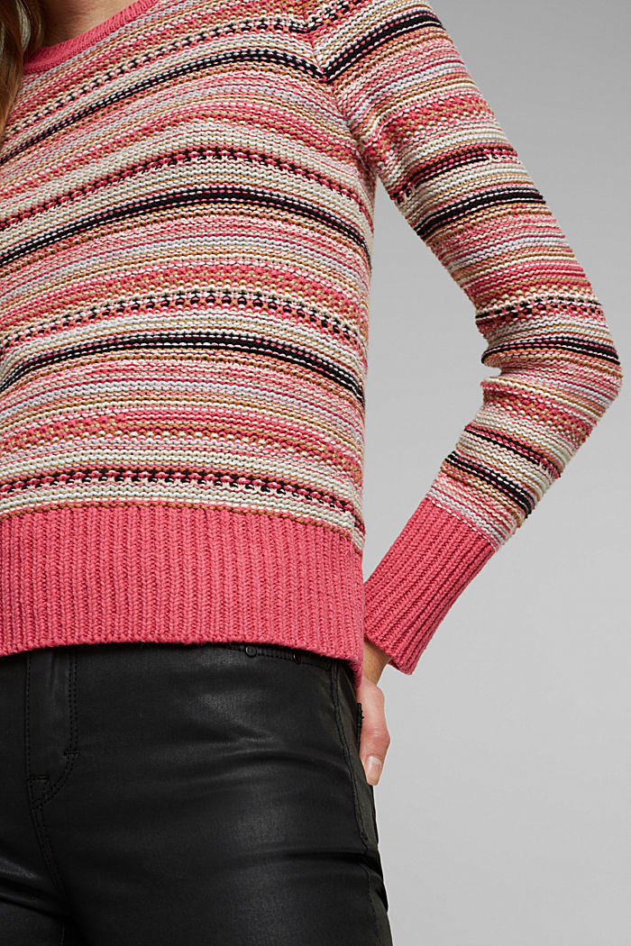 Struktur-Pullover mit Organic Cotton, BLUSH, detail image number 2