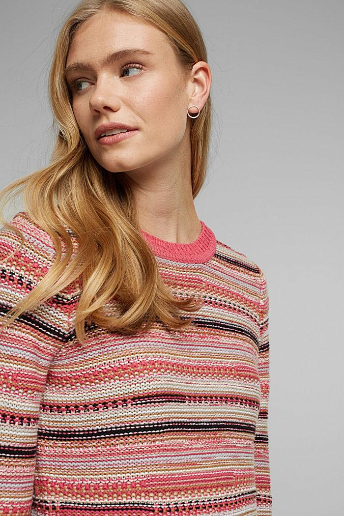 Struktur-Pullover mit Organic Cotton, BLUSH, detail image number 5