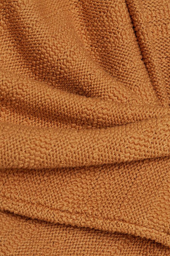 Kapuzen-Pullover mit Struktur, CARAMEL, detail image number 4