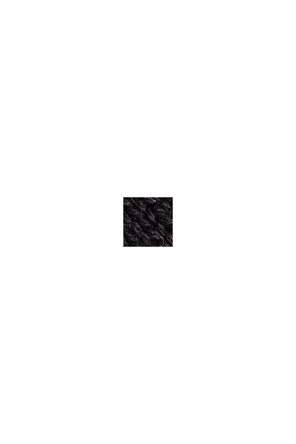Kofta med huva i ekologisk bomull, BLACK, swatch