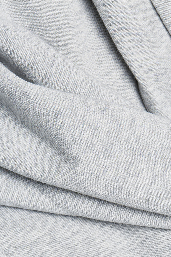 Double-faced cardigan with a hood, LIGHT GREY, detail image number 4