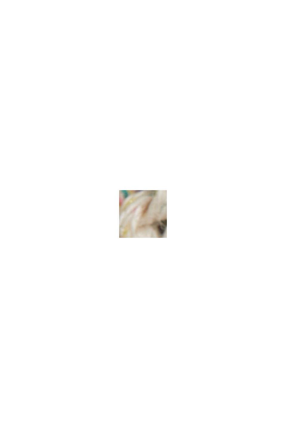 Mouline-Strickpullover mit Kontrastnähten, OFF WHITE, swatch