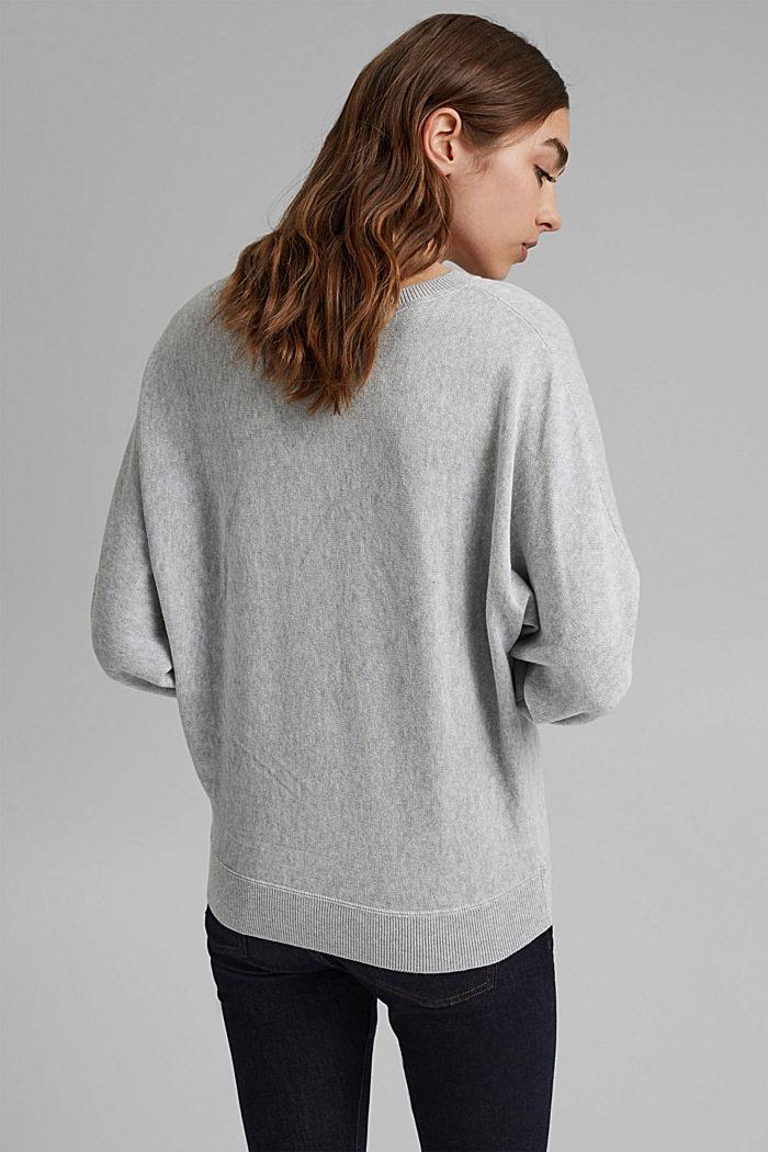Sweter w stylu bluzy, 100% bawełny organicznej, LIGHT GREY, detail image number 3
