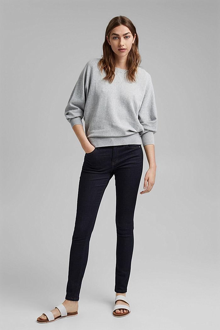 Sweter w stylu bluzy, 100% bawełny organicznej, LIGHT GREY, detail image number 1