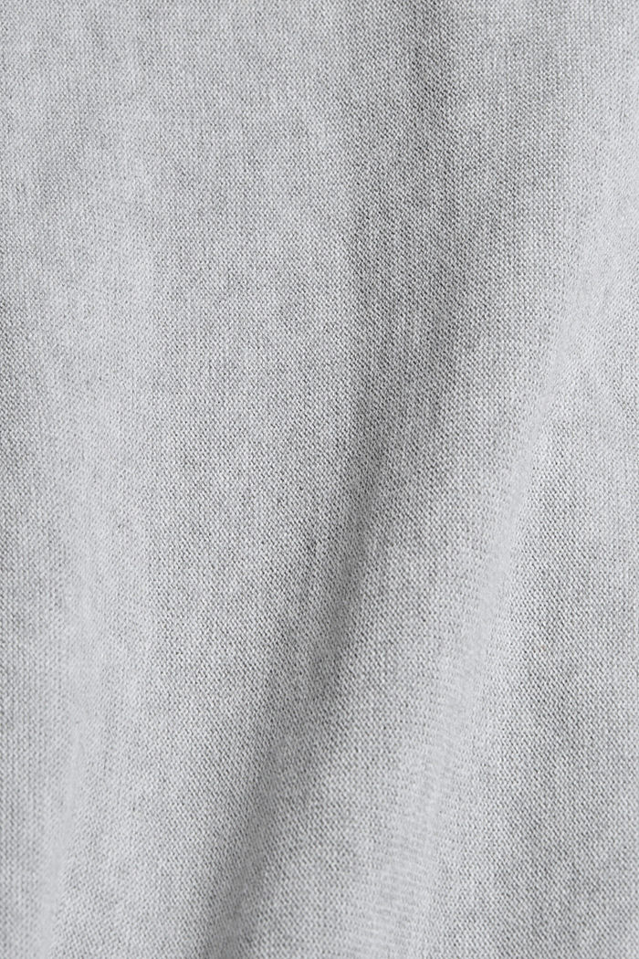 Sweter w stylu bluzy, 100% bawełny organicznej, LIGHT GREY, detail image number 4