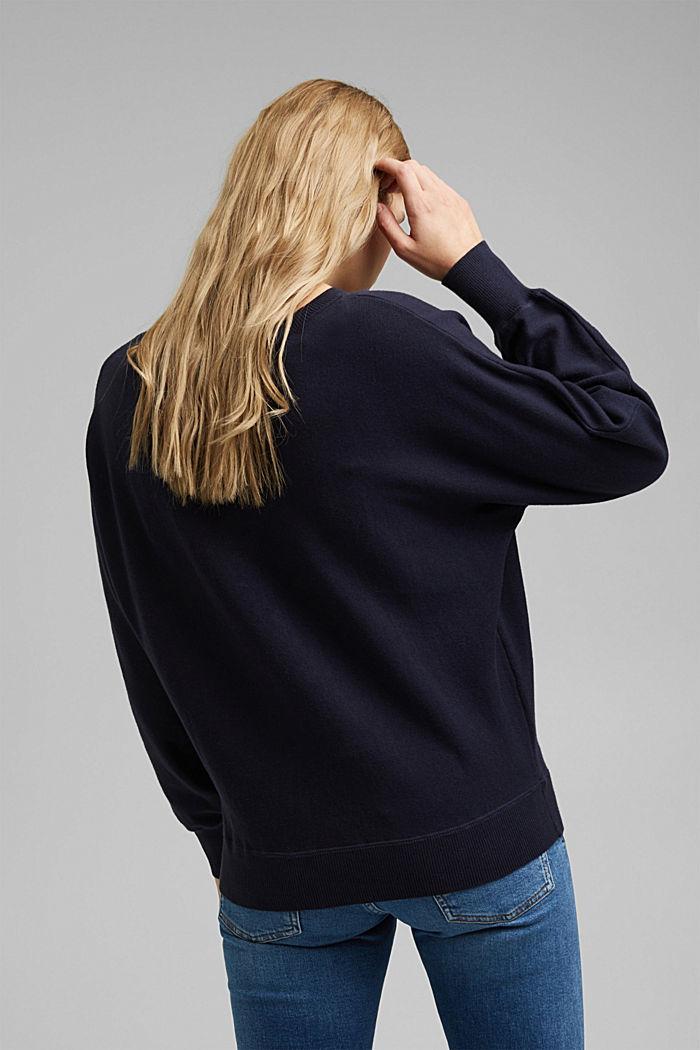 Sweatshirt jumper, 100% organic cotton, NAVY, detail image number 3
