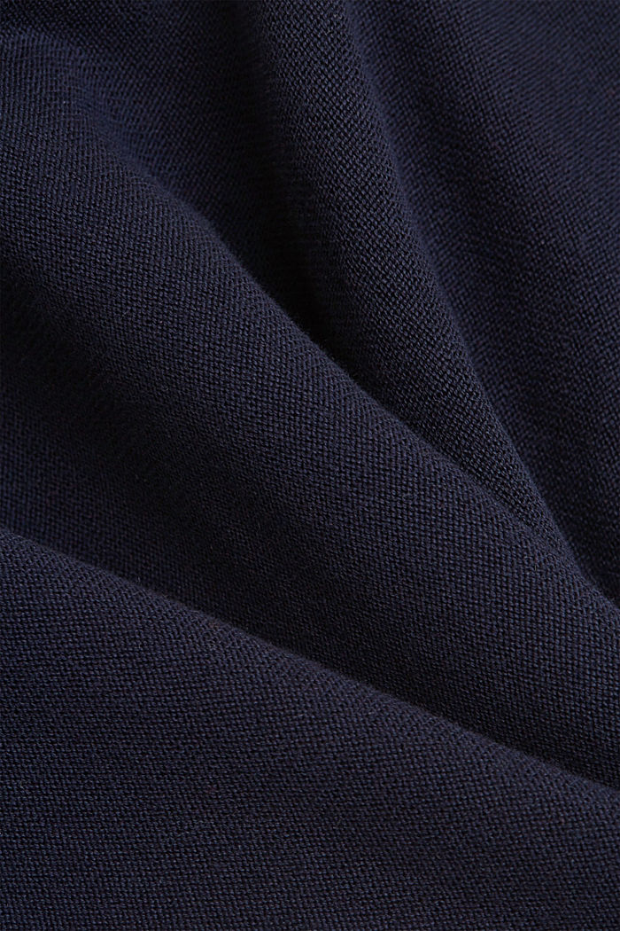 Sweatshirt jumper, 100% organic cotton, NAVY, detail image number 4