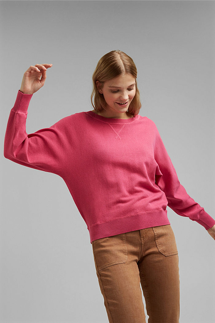 Sweatshirt jumper, 100% organic cotton, BLUSH, detail image number 0