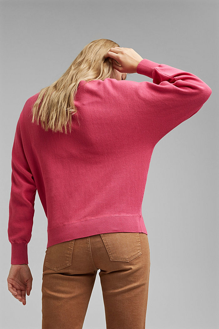Sweatshirt jumper, 100% organic cotton, BLUSH, detail image number 3