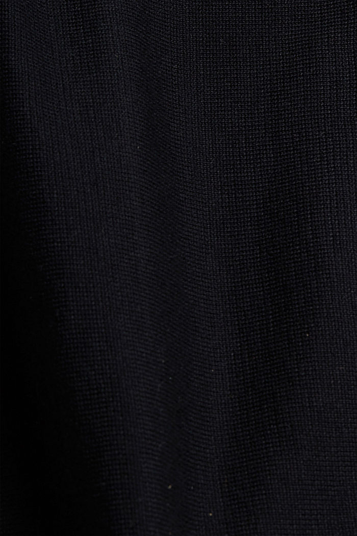 Offener Cardigan aus 100% Organic Cotton, BLACK, detail image number 4