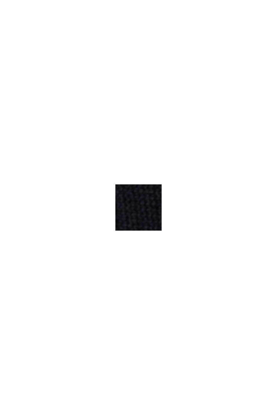 Offener Cardigan aus 100% Organic Cotton, BLACK, swatch