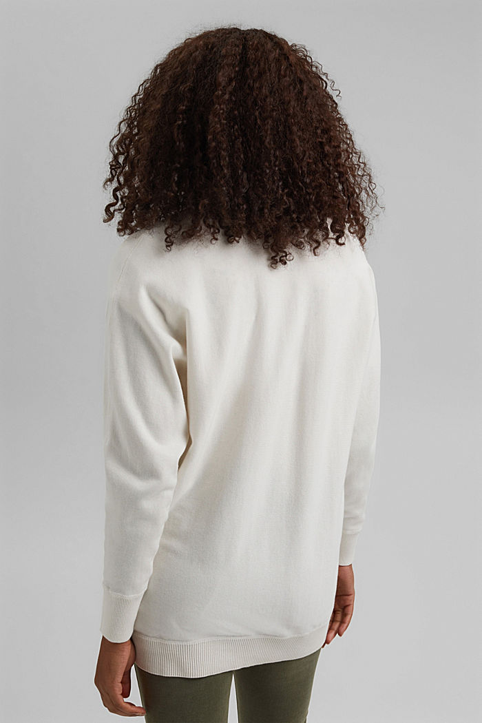 Open cardigan made of 100% organic cotton, OFF WHITE, detail image number 3