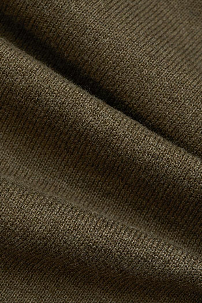 Open cardigan made of 100% organic cotton, DARK KHAKI, detail image number 4