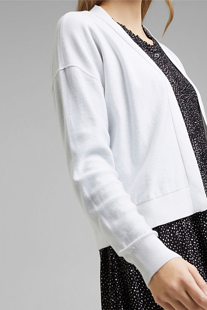 Open cardigan made of 100% organic cotton, WHITE, detail image number 2