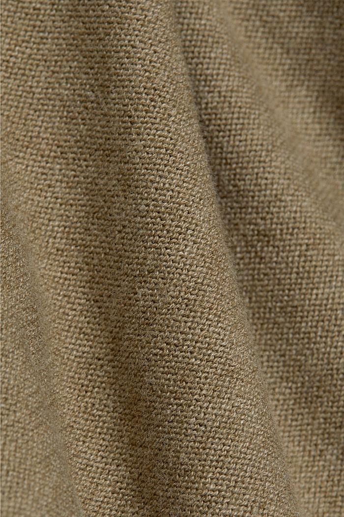 Offener Cardigan aus 100% Bio-Baumwolle, LIGHT KHAKI, detail image number 4