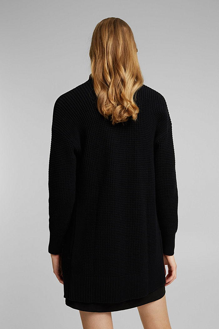Long cardigan made of 100% organic cotton, BLACK, detail image number 3