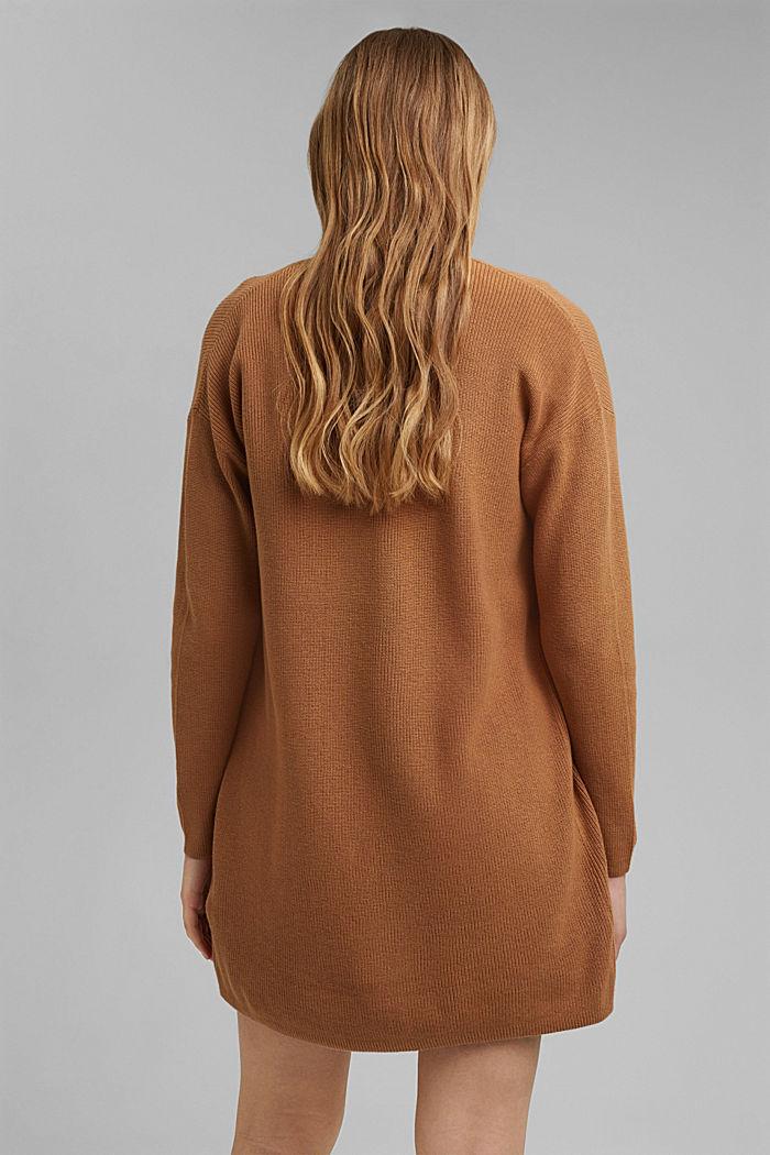 Long cardigan made of 100% organic cotton, CARAMEL, detail image number 3