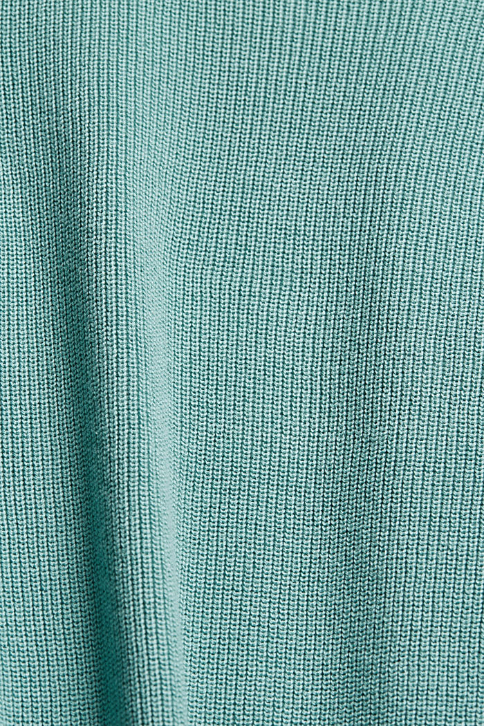 Long cardigan made of 100% organic cotton, DUSTY GREEN, detail image number 4