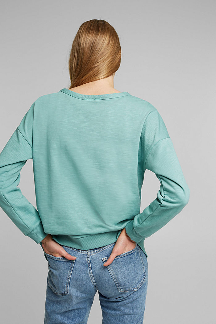 Sweatshirt made of 100% organic cotton, DUSTY GREEN, detail image number 3