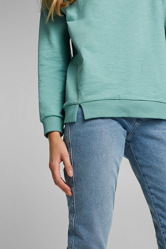 Sweatshirt made of 100% organic cotton, DUSTY GREEN, detail image number 2