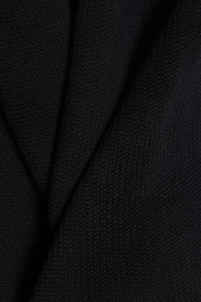 Organic cotton hoodie, BLACK, detail image number 4