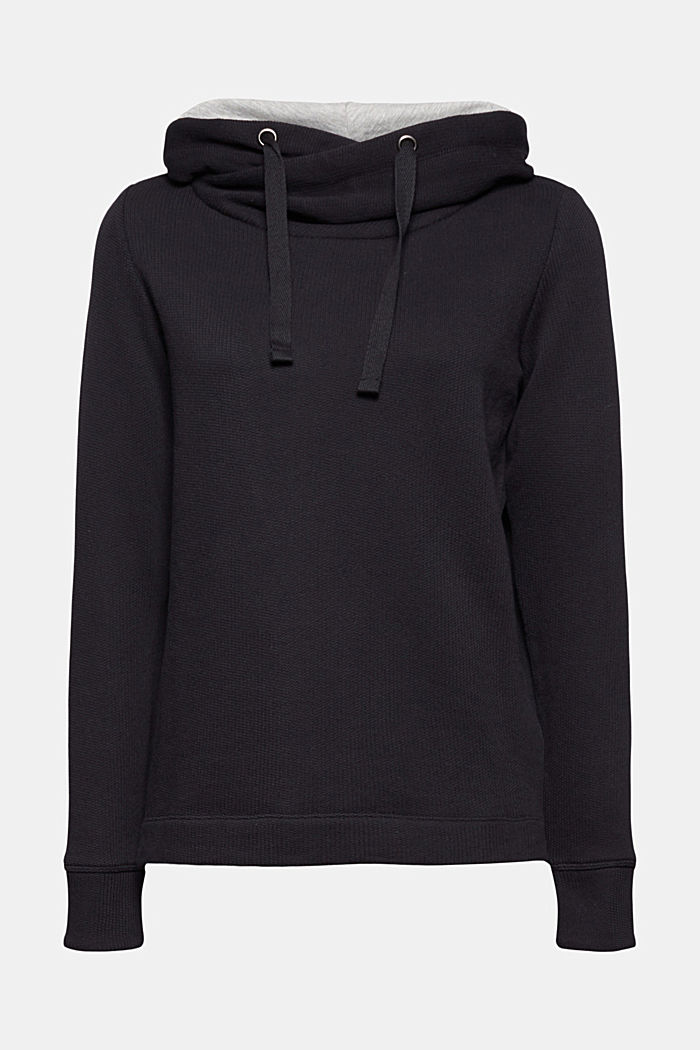 Organic cotton hoodie, BLACK, detail image number 7