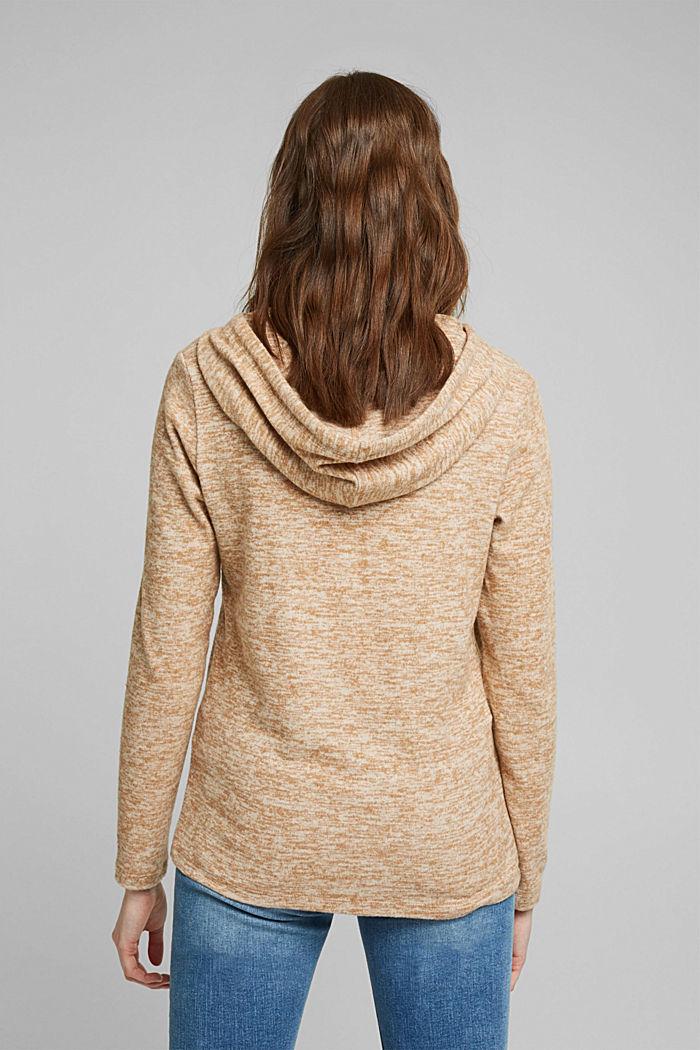 Recycled: melange jersey hoodie, CARAMEL, detail image number 3