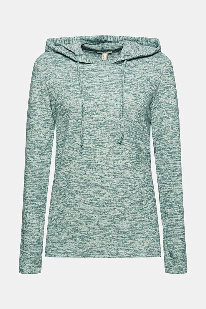 Recycled: melange jersey hoodie