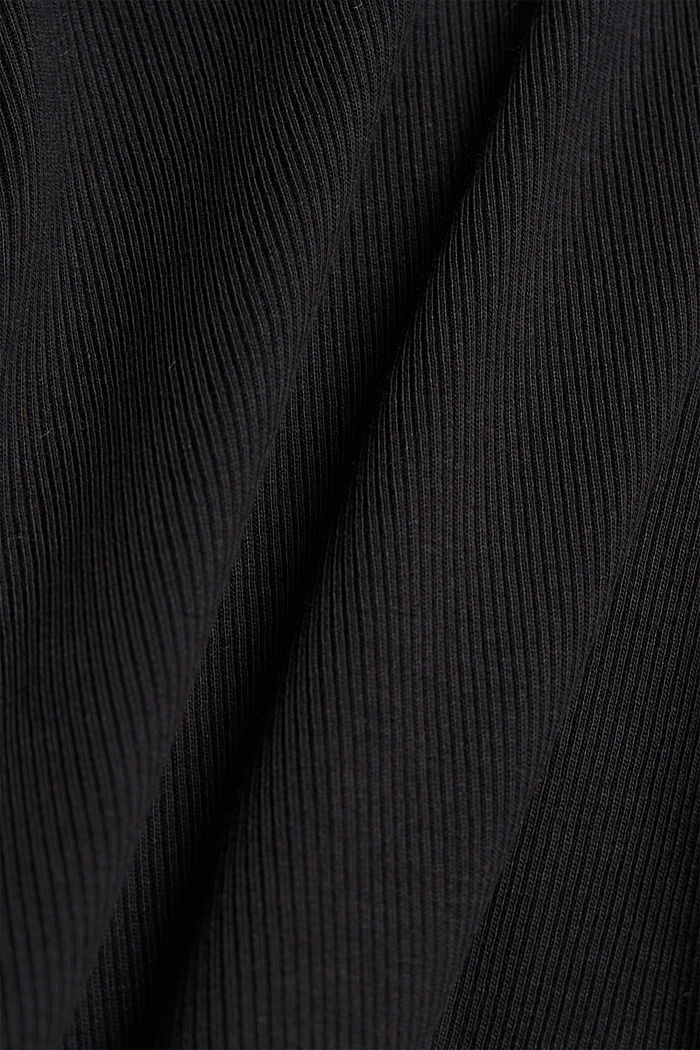 Ribbed jersey body made of organic cotton, BLACK, detail image number 4