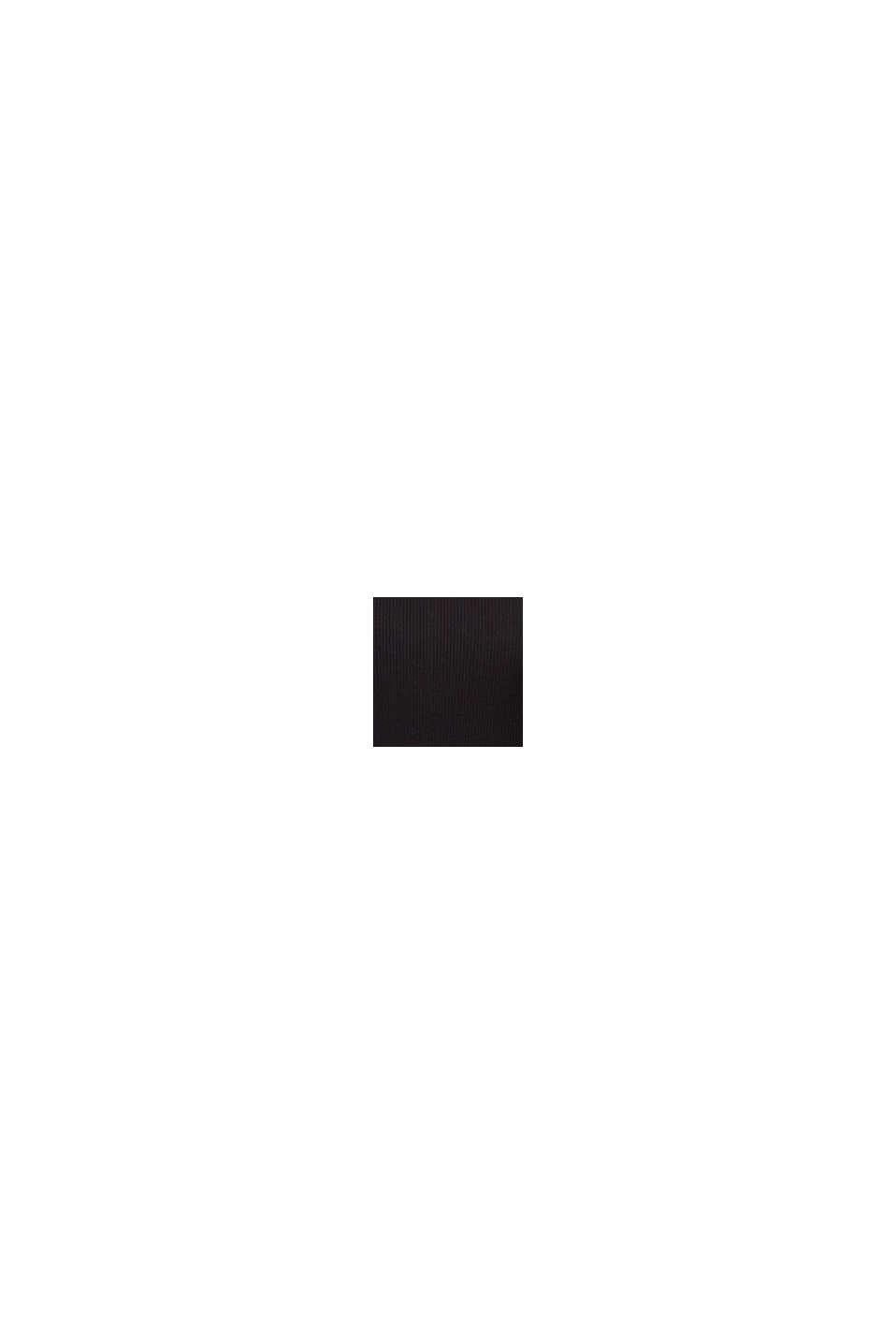 Body van geribde jersey van biologisch katoen, BLACK, swatch