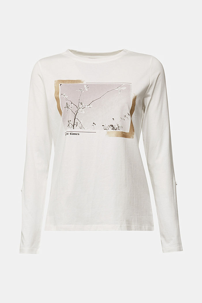 Long sleeve top made of 100% organic cotton, OFF WHITE, detail image number 6