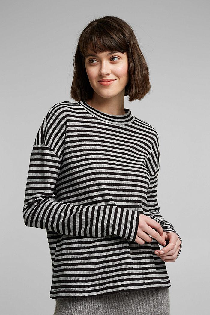 Long cardigan made of 100% organic cotton, BLACK, detail image number 0