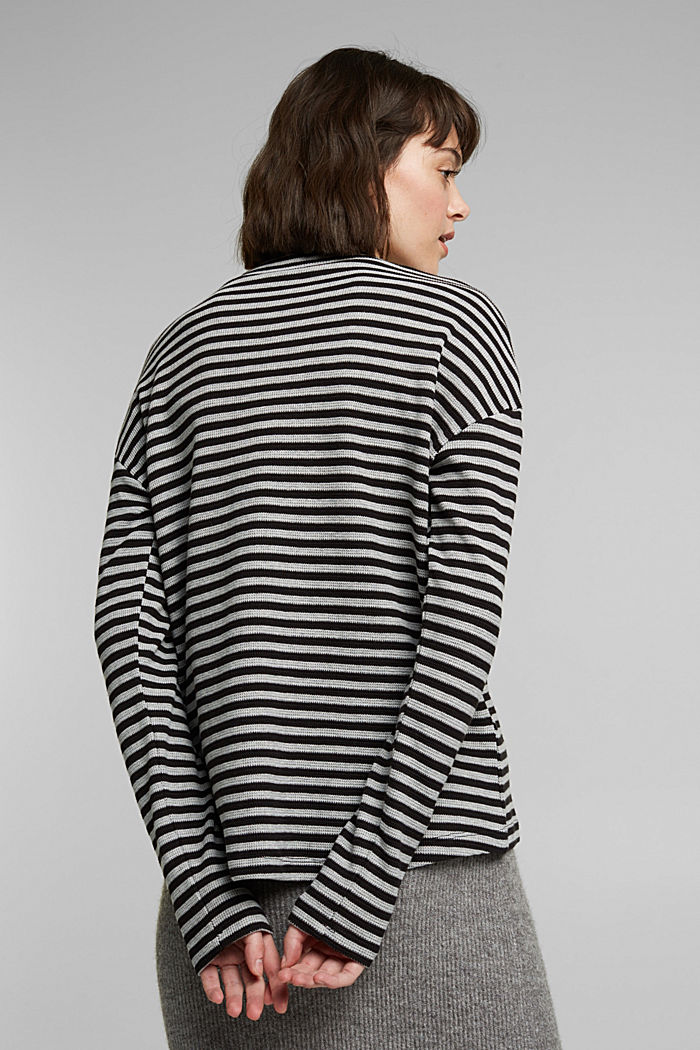 Long cardigan made of 100% organic cotton, BLACK, detail image number 3