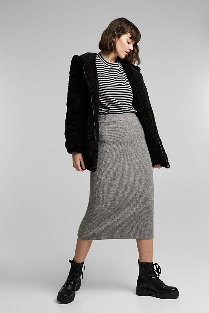 Long cardigan made of 100% organic cotton, BLACK, detail image number 1